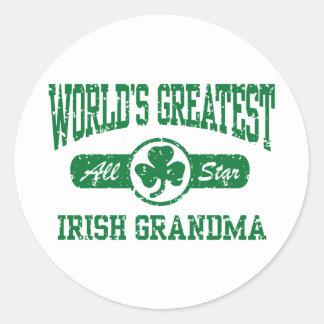 Irish Grandma Classic Round Sticker