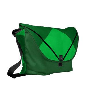Irish Green Argyle Courier Bag
