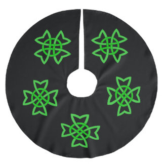 Irish Green Celtic Knot Brushed Polyester Tree Skirt