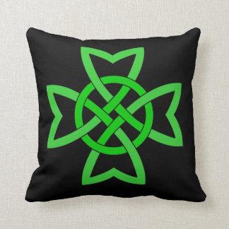 Irish Green Celtic Knot Cushion
