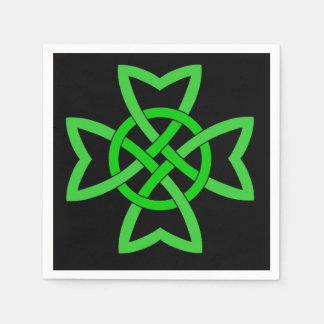 Irish Green Celtic Knot Disposable Serviette