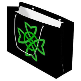 Irish Green Celtic Knot Large Gift Bag