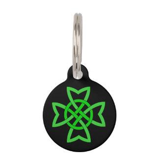 Irish Green Celtic Knot Pet Nametags