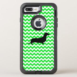 Irish Green Chevron with Dachshund OtterBox Defender iPhone 7 Plus Case