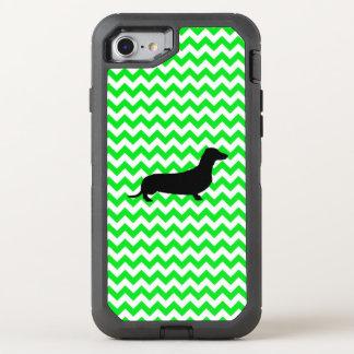 Irish Green Chevron with Dachshund OtterBox Defender iPhone 8/7 Case