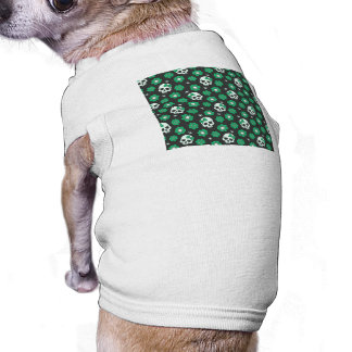Irish Green Goth Skulls Sleeveless Dog Shirt