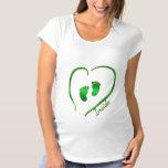 Irish Green Heart and Baby Feet Shirt