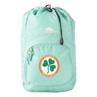 Irish Green Heart Erin Go Bragh Ireland Forever Backpack