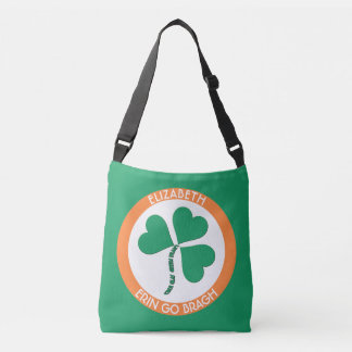 Irish Green Heart Erin Go Bragh Ireland Forever Crossbody Bag