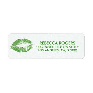 Irish-Green Lips Kiss & Green Dots Pattern