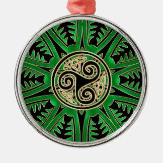 Irish Green Mandala Celtic Triskele Ornament