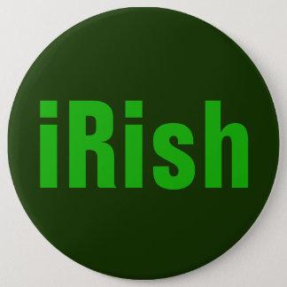 iRish Green on Green 6 Cm Round Badge