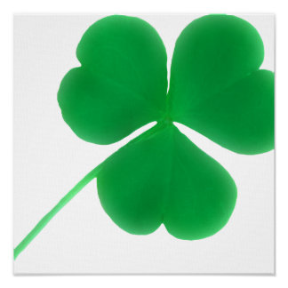 Irish Green Shamrock Simple | St. Patrick's Day Poster
