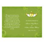 Irish Green Wedding Ceremony Bi Fold Programs
