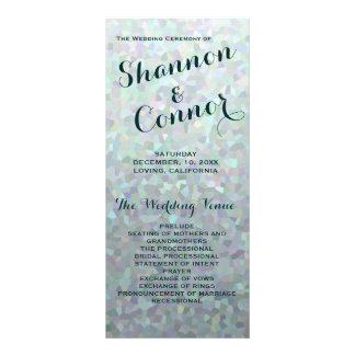 Irish Green Wedding Program Rack Card