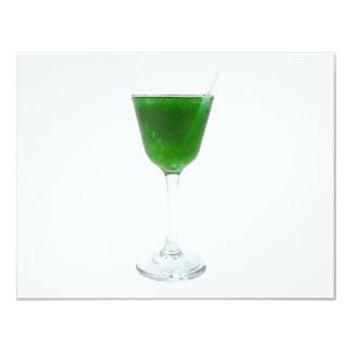 """Irish Green Wine 4.25"""" X 5.5"""" Invitation Card"""