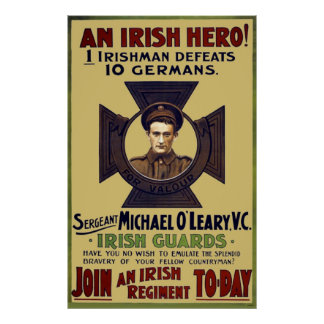 Irish Guard Hero WW I Poster