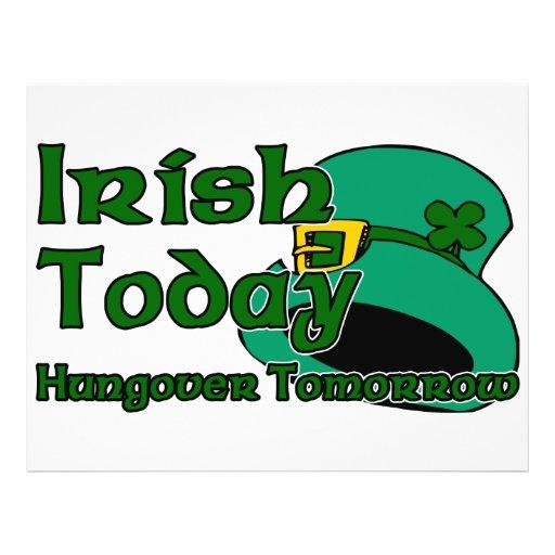 Irish Hangover Personalized Flyer