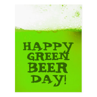 Irish Happy Green Beer Day Postcard