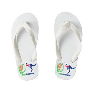 Irish Harp-Australia flag Flip-Flops-Kids Flip Flops