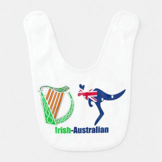 Irish Harp-Australia flag for Baby-Bib Bib
