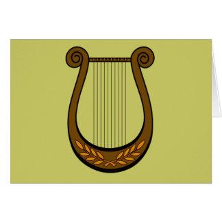 Irish Harp Card