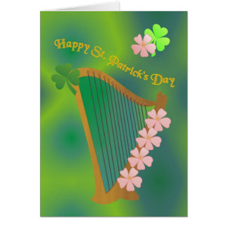 Irish harp greeting cards