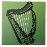 Irish harp ceramic tiles