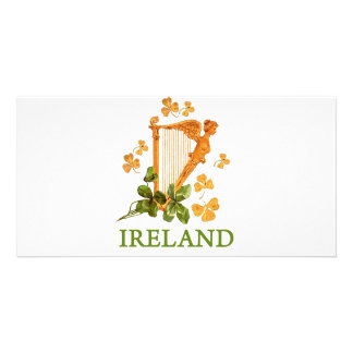 IRISH HARP CUSTOM PHOTO CARD
