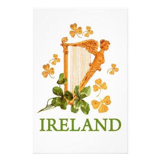 IRISH HARP CUSTOMISED STATIONERY