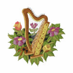 Irish Harp Embroidered Hoodie