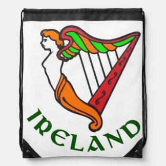 Irish Harp for Drawstring Backpack