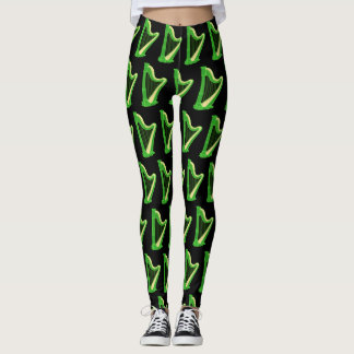 Irish Harp Music Saint Patrick's Day Leggings