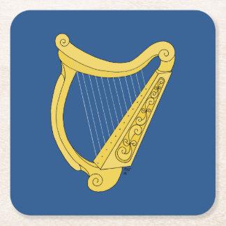 Irish Harp Paper Coasters Square Paper Coaster