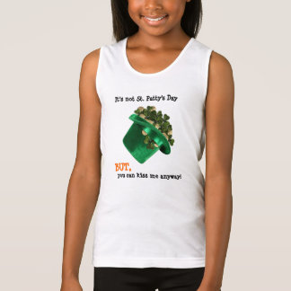 Irish Hat and shamrocks, kiss me anyway T Shirt
