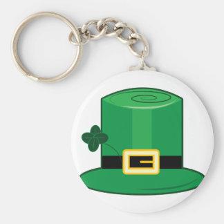 Irish Hat Basic Round Button Key Ring