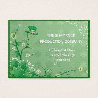 Irish hat, shamrock business card
