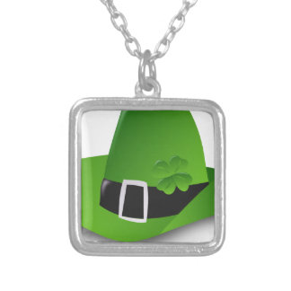 Irish Hat Silver Plated Necklace