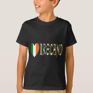 Irish Heart Flag & Word Ireland T-Shirt