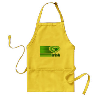 Irish Hearts Yellow Retro Cooking Apron