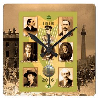 Irish Heroes image for Square-Wall-Clock Square Wall Clock