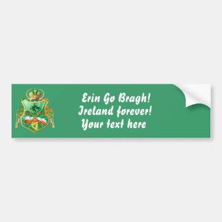 Irish History Shield View Story Below Bumper Stickers