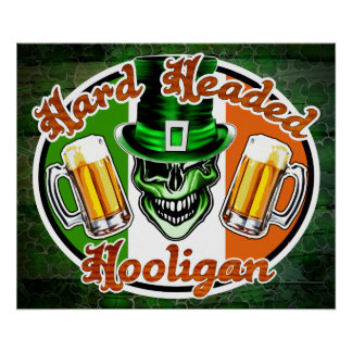 Irish Hooligan Skull: Hard Headed Hooligan 2 Poster