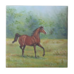 Irish Horse Oil Painting by Joanne Casey - Tile