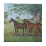 Irish Horses Painting By Joanne Casey - Tile