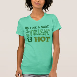 Irish & Hot St. Patrick's Day Ladies Petite Tshirt