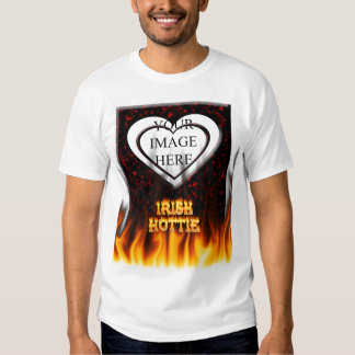 Irish hottie fire and flames Red marble T-shirts