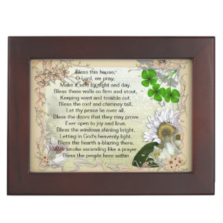 Irish House Blessing keepsake Memory Boxes