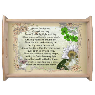 Irish House Blessing tray