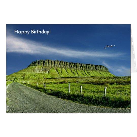 Irish image for Birthday greeting card